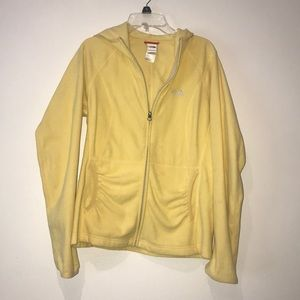 Yellow north face zip up
